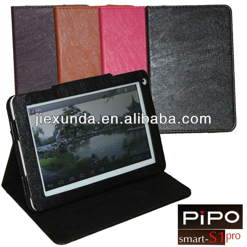 1 Piece Free Shipping 7 inch Stand PU Leather Case for Quad Core Tablet PC Pipo S1 Pro