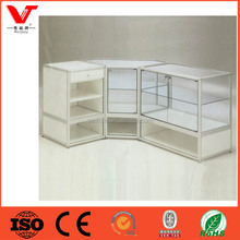 Modern style glass jewelry display cabinet and jewellery shop counter design for retail store furniture