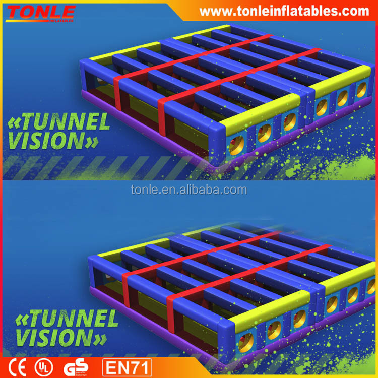 5K Run Crawling Tunnel Vision Inflatable Obstacle/ obstacle course
