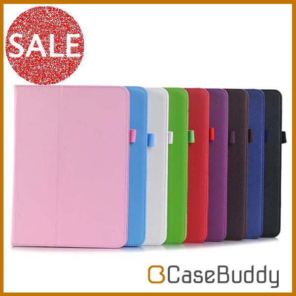 Casebuddy Lichi Protective Folio Book Stand Leather Cover Case for Apple iPad 9.7inch