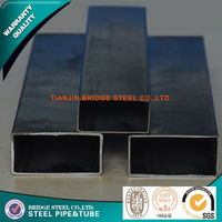chinese supplier manufacturing black iron 100mmx100mm square tube oiling or painting