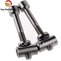 Factory supply high quality and low price GR5 Titanium Ti Thomson Seatpost bolts M5 x 40mm, Bolt + Washer + Barrel Nut