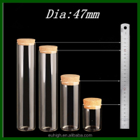 47mm Dia Flat Bottom Test Tube Glass Bottle With Cork