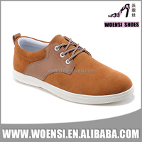 most popular low price new nice lace up tan color cemented comfortable casual shoes for men