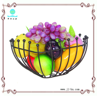 Innovative product fruit basket metal wire caddy basket