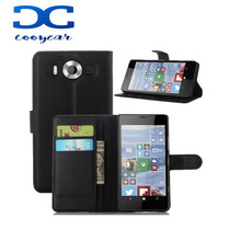 Luxury Leather Wallet Cover Case for Microsoft lumia 950 5.2 inch Phone