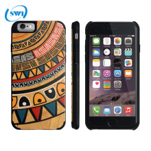 Aliexpress hottest selling 3D color carving wooden case for iphone 6/6 plus,solid wood phone case for iphone 6 real wood case