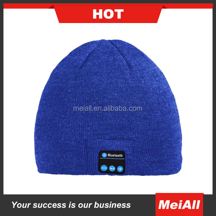 Nice Winter Soft Warm Beanie Slouch Cap For Women men With Bluetooth Stereo Headphone Hats Hands-free