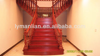 Red oak handrail Chinese wooden banister