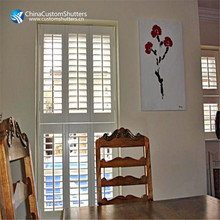 Fast delivery solar tier-on-tier special shapes window shutters