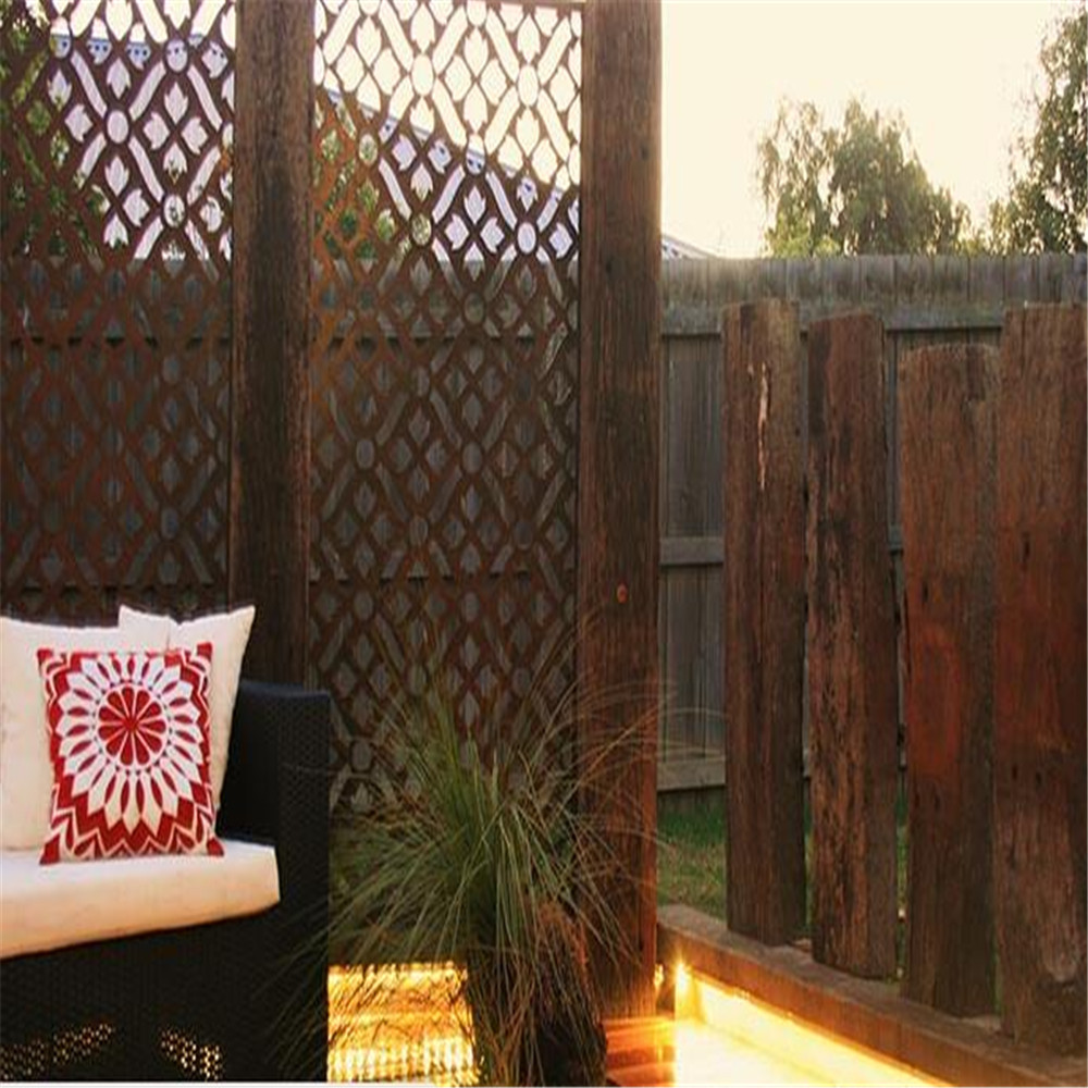 laser cut outdoor privacy metal screens