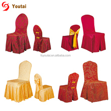 hot sale chinese traditional style skirt spandex dining chair cover for restaurant