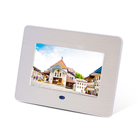 7 Inch Brushed Metal Digital Screen Video Photo Frame
