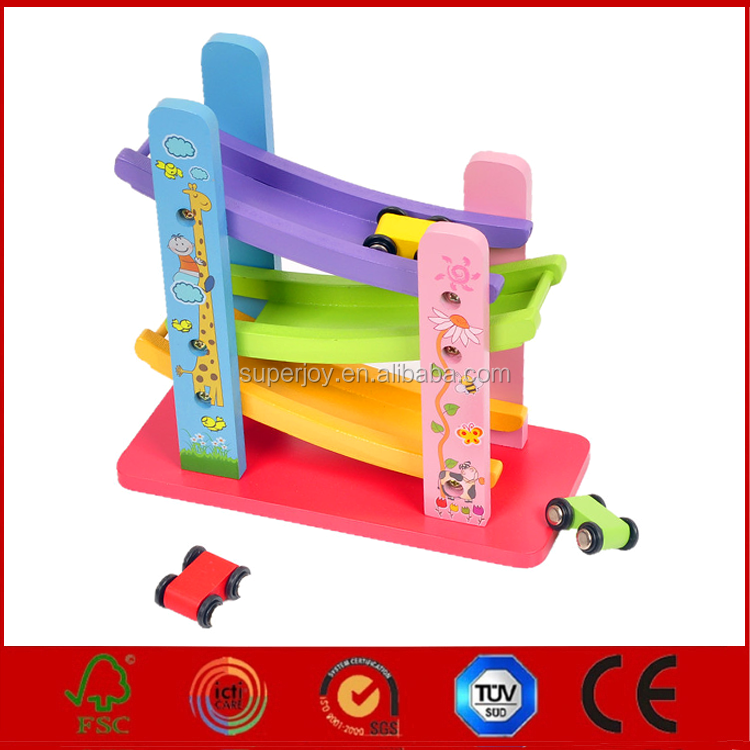 new design wooden toys car track for kids