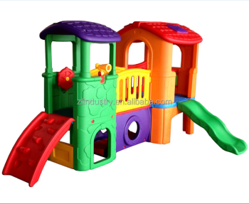 2017 hot new products indoor kids slide set plastic playhouse