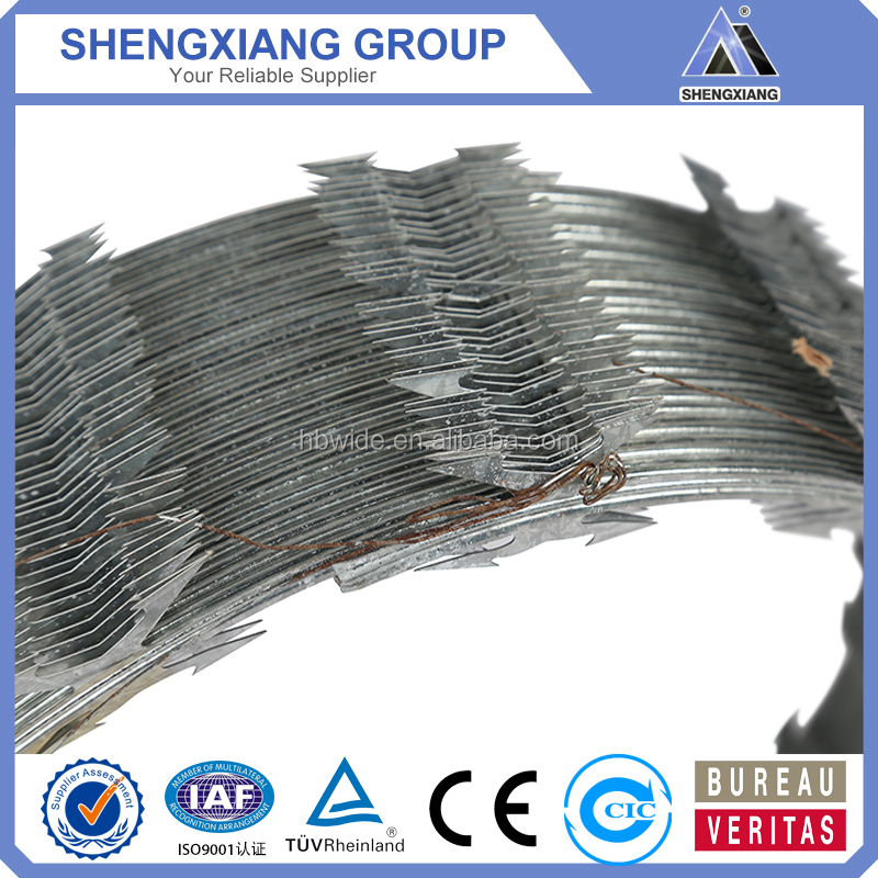 Stainless Steel Barbed Wire/Concertina Razor Barbed Wire(Anping factory)