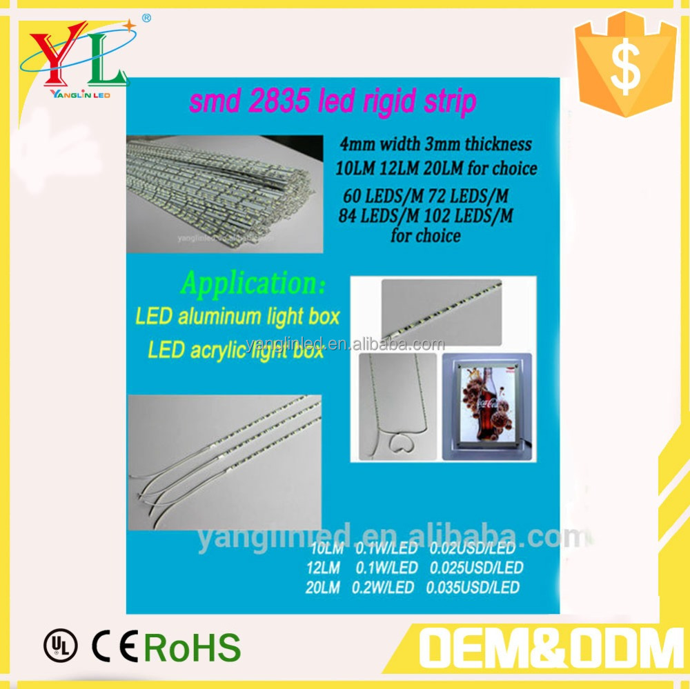 High brightness low price epistar smd 2835 led rigid strip