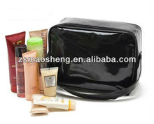 Fashion lady cosmetic case with leather
