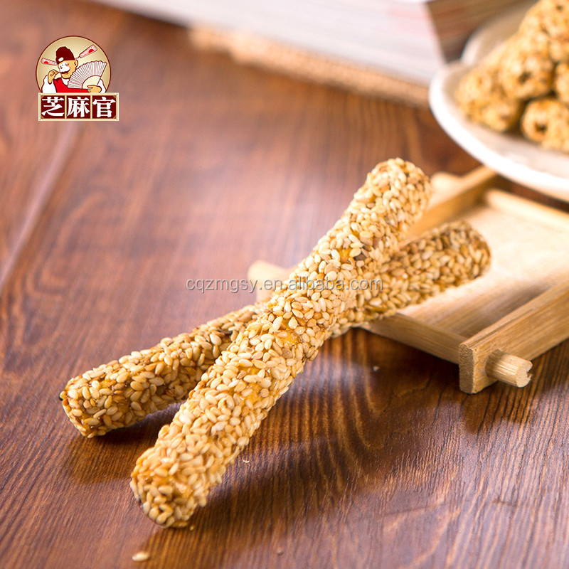 Traditional Chinese Snack Crunchy Sesame Maltose Candy Sesame Stick Healthy Snack