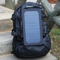 6.5W Outdoor Solar Panel Backpack USB Charger Battery Power Bank Solar Charging Bag For Phones Camping Travel Backpack