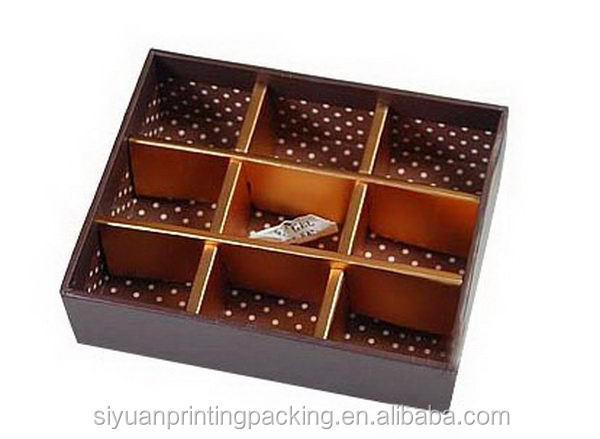 Top grade best sell cheap gourmet chocolate box packaging
