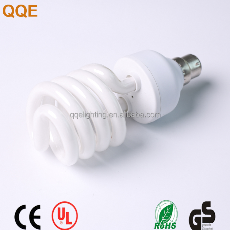 15w China supplier CFLlamp Half spiral energy saving lamp