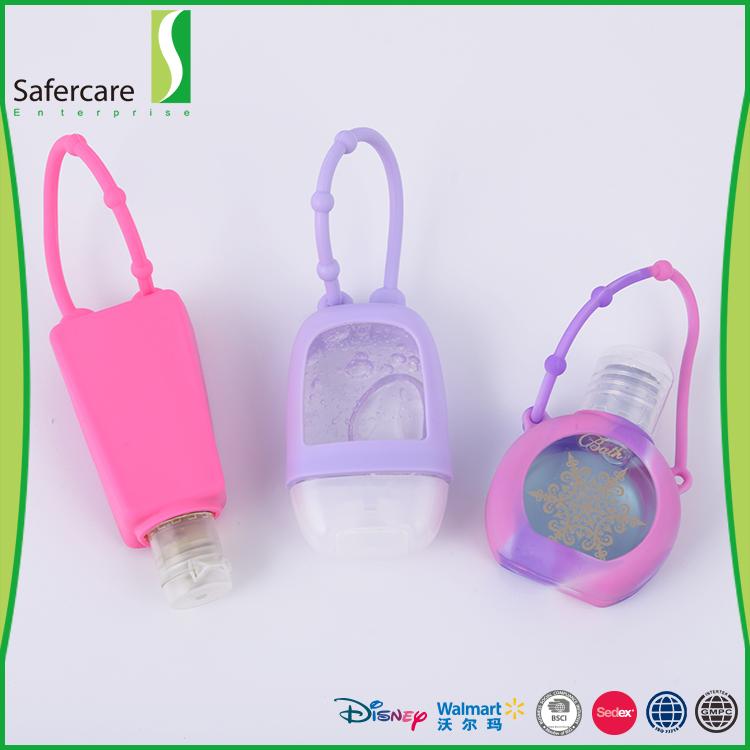 New Custom Shaped Multi Style Travel Portable Hanging Silicone Hand Sanitizer Holder