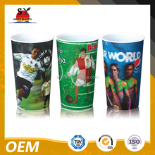3D lenticular plastic sipper cup with customized designs