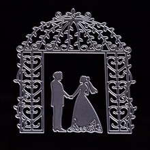 wedding couple decoration custom made carbon steel dies scrapbooking cutting