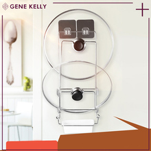 GEKE Fully stocked hangingkitchen pan pot lid storage rack,Pot Lid Holder Cabinet Organizer,hanging rack hooks shelves