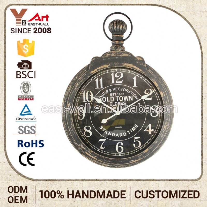 Bargain Sale Clearance Price Vintage Wooden Wall Clock Glass Bezel