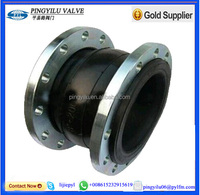 Single sphere flexible rubber bridge expansion flexible Joint with WCB flange