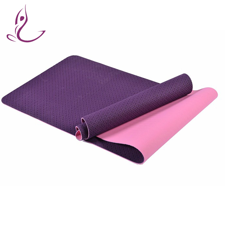 Portable logo printed high resilient tpe yoga mat 8mm