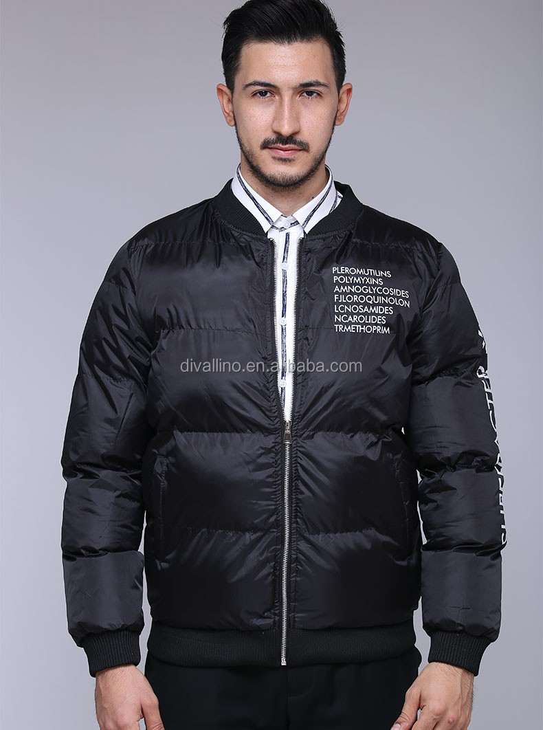 2017 One-stop Factory of Man Quilted Winter Jacket with Factory Wholesale Prices