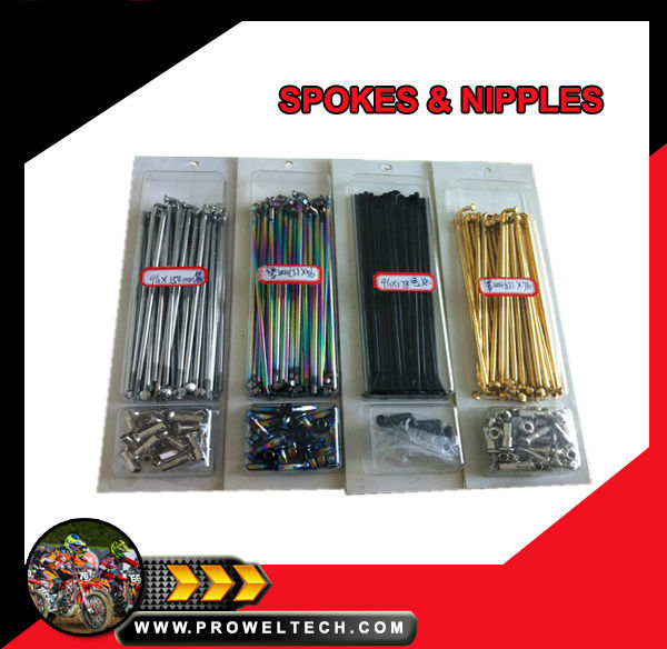 Motorcycle parts: Spokes&Nipples for Motocross, Supermoto and Dirt bike Racing Wheels