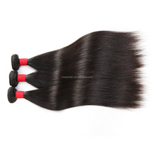 Cheap wholesale 100% Brazilian virgin human hair weave bundles, aliexpress brazilian sliky straight human hair
