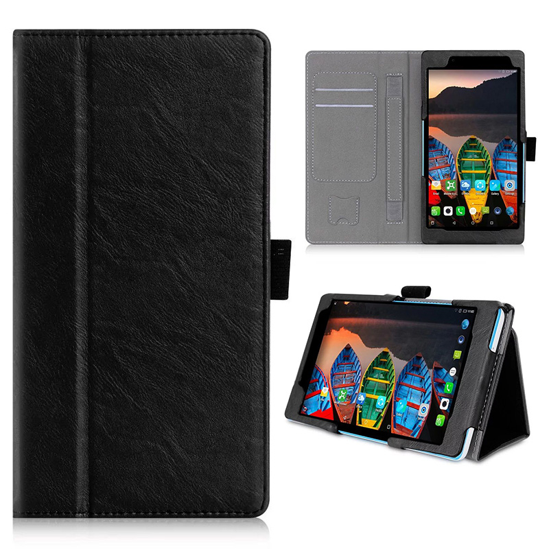 NEW Flip Wallet Leather Card Slot Stand Case Cover For Lenovo Tab 3 730M 7''