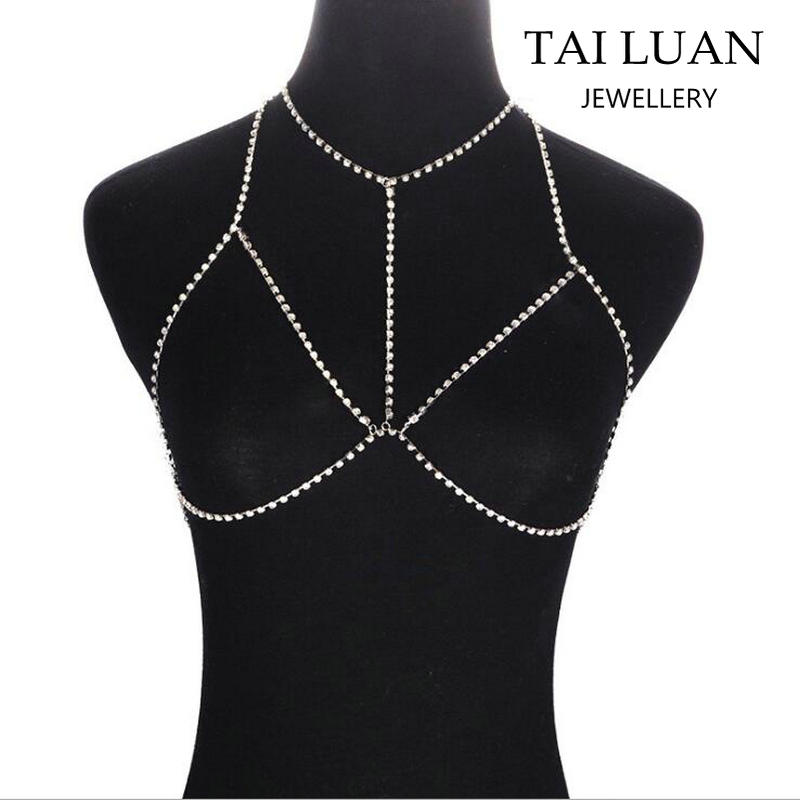 2017 Wholesale Rhinestone Chain Bra Body Chain Body Jewelry