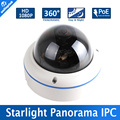 "1/2.8""IMX291 1080P 0.0001Lux Day/Night Color Image and Fisheye 5MP 1.7MM Lens IP Camera 2MP Starlight With POE"