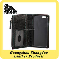Excellect Handmade Leather Zipper Card Holder Phone Case