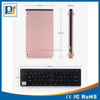 Portable Bluetooth Keyboard,Foldable Bluetooth Keyboard Aluminum Alloy Ultraslim Mini Wirless Keyboard for Phones/Tablet