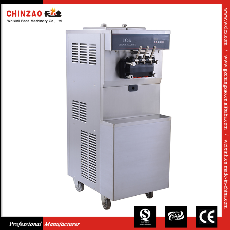 Commercial Heavy Duty 3 Flavor Ice Cream Filling Soft Ice Cream Machine