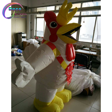 New inflatable walking cartoon mascot chicken for sale