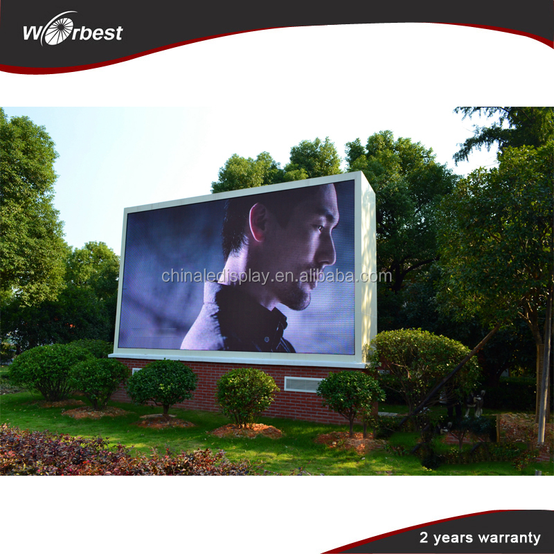 High brightness Waterproof IP65 Full Color Outdoor street led video display board P10 LED Advertising Screen