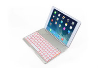 Magnetic slot wireless backlit keys Bluetooth keyboard for IPad Air with Aluminum alloy bottom