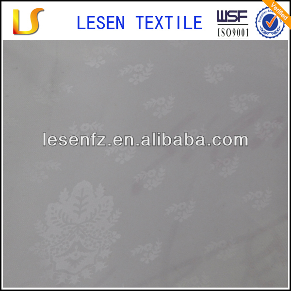 Lesen polyester beautiful tissue fabric / PU coated embossed taffeta / bag inner lining fabric