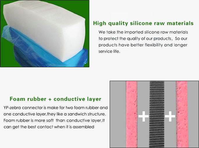 Cost Effective Conductive Zebra Connector Silicone LCD Rubber Connector