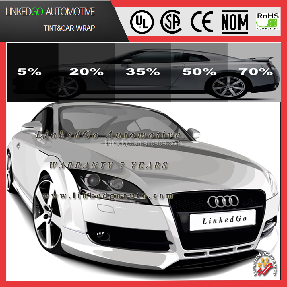 Heat rejection film for car windows,Sun reflecting window film tinting for car, automotive solar control window tint