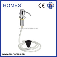 competitive price manual brass liquid hand soap dispenser with 1.2m long hose