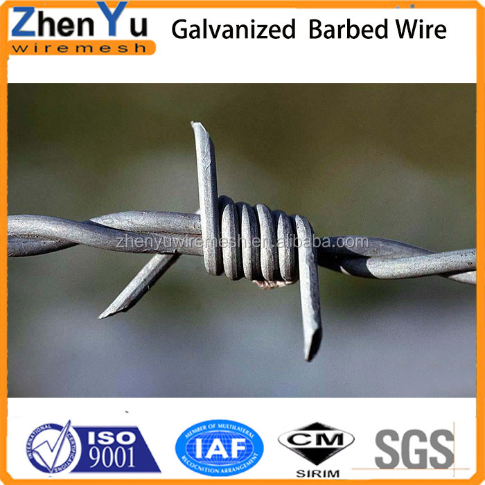 pvc coated/galvanized/stainless steel barbed wire weight per meter
